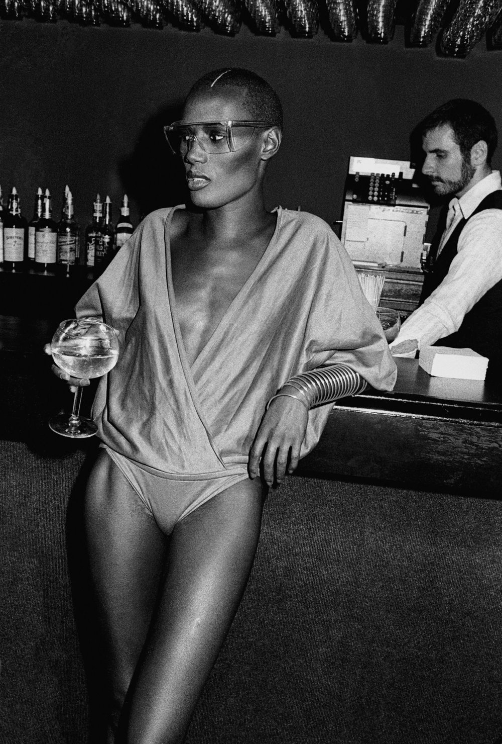 La diva Grace Jones en el Studio 54.
