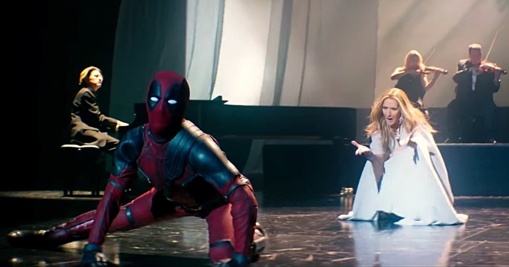 "Video de ""Ashes"". Deadpool y Celine Dion"
