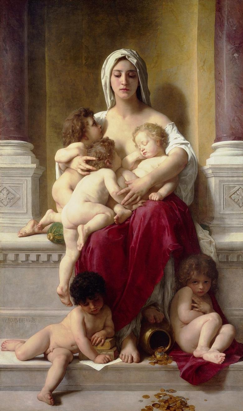 Caridad , William-Adolphe Bouguereau