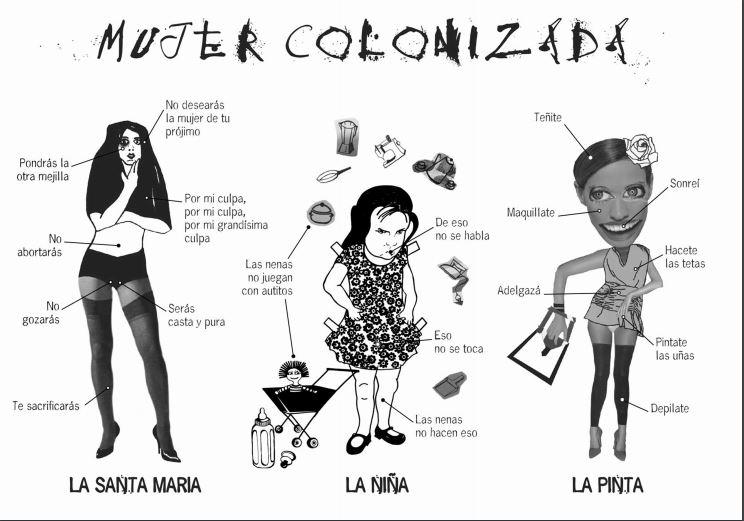 """""""Mujer colonizada"""" Proyecto de gráfica de  Mujeres Públicas . Argentina"""