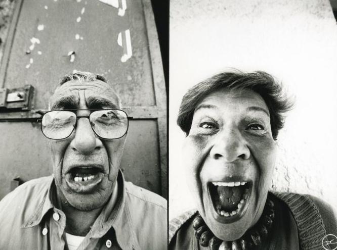 Escultores , 2006. Face2Face. Artista:JR