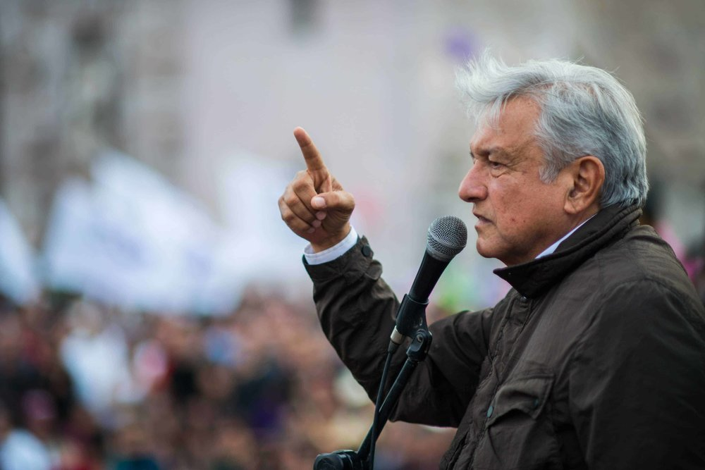 Andrés Manuel López Obrador en un discurso. Imagen de Info 7.
