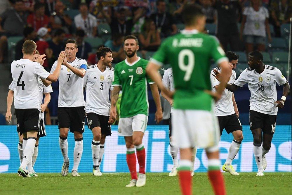 La selección mexicana enfrentó, en la pasada Copa Confederaciones a Alemania, y no le fué nada bien.
