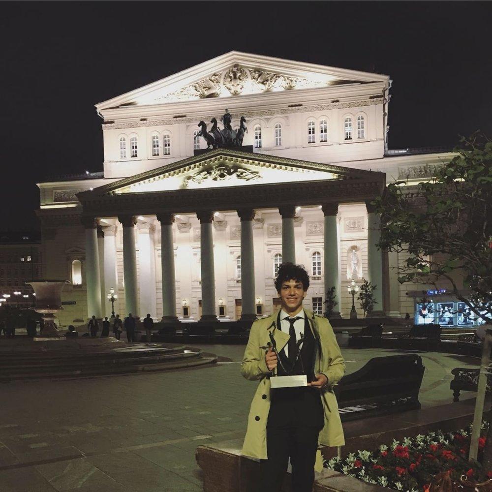 Isaac Hernández en Moscú
