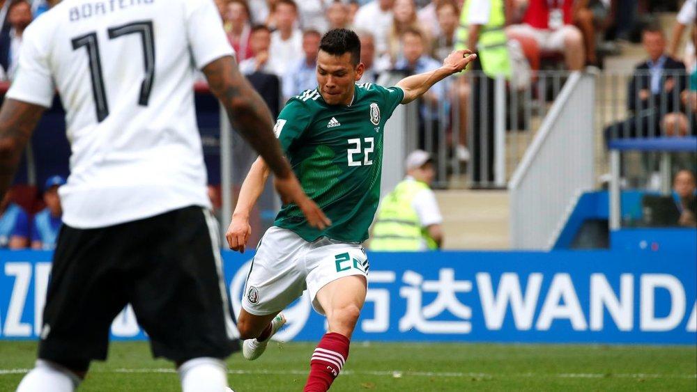 Lozano, pone adelante al conjunto mexicano. Foto vía El Financiero