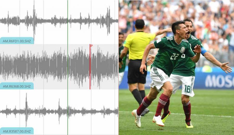 """Durante la anotación del """"Chuky"""" Lozano se registró un """"sismo artificial"""". Foto vía: Parabólica"""