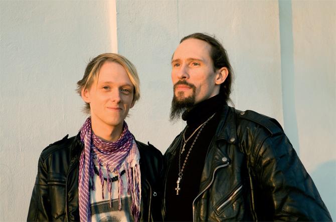 Gaahl y Dan DeVero. Foto vía VICE