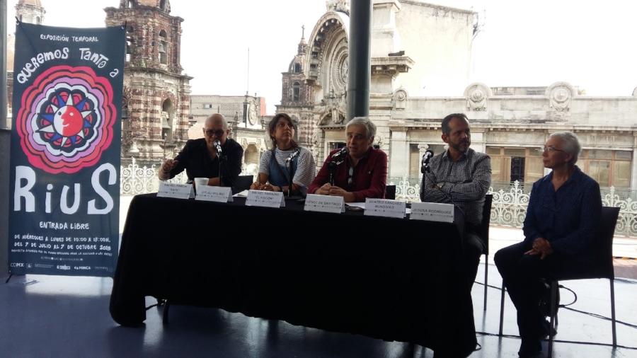 """De izquierda a derecha: """"Rapé"""", Citlali del Río, """"El Fisgón"""", Henoc de Santiago"""" y Beatriz Sánchez Monsivais"""