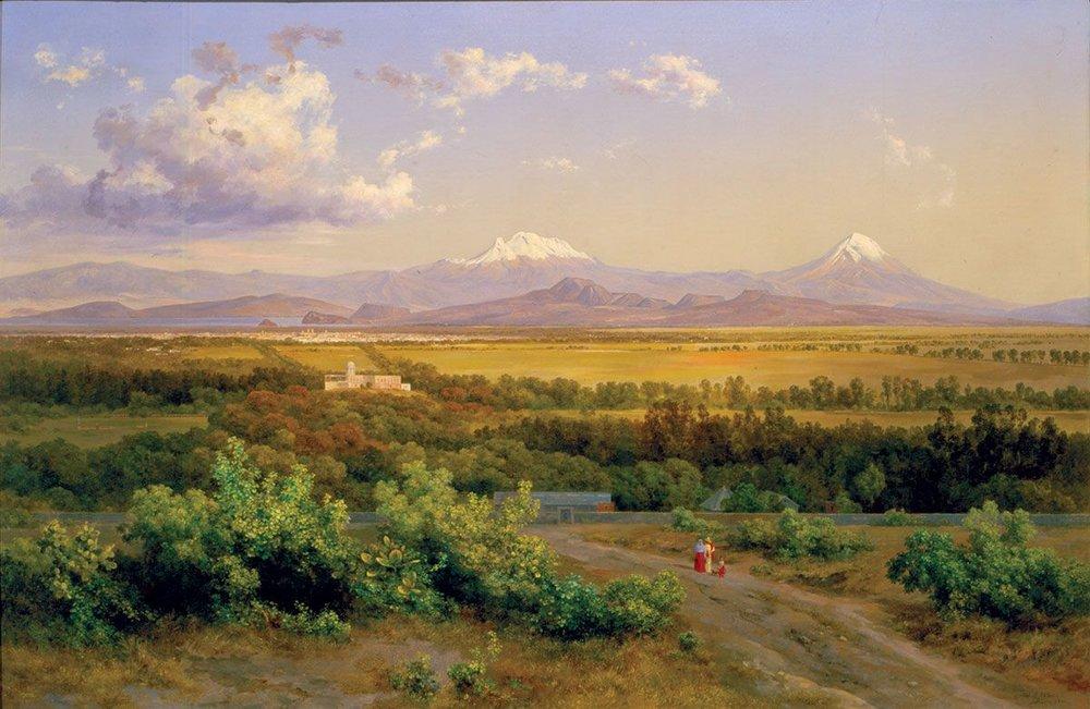 Valle de México desde el molino del Rey , 1900. Colección MUNAL