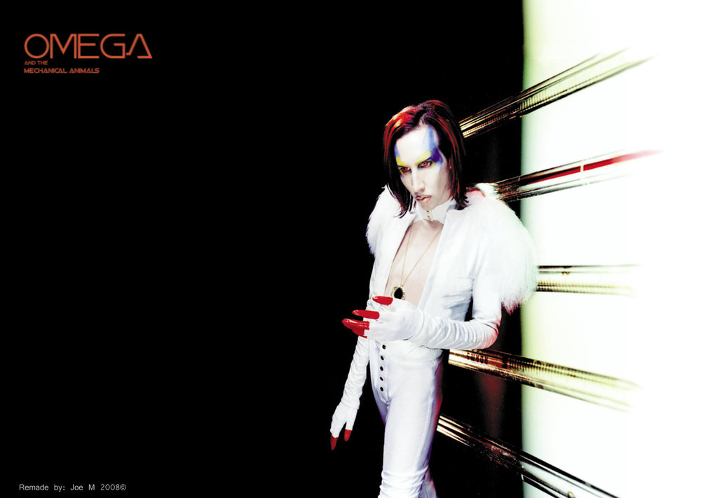 Portada alterna para la banda ficticia  Omega and the Mechanical Animals.