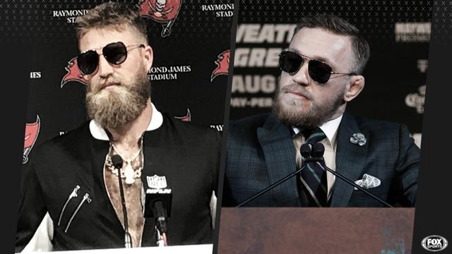 Ryan Fitzpatrick y Connor McGregor. Foto vía Fox Sports