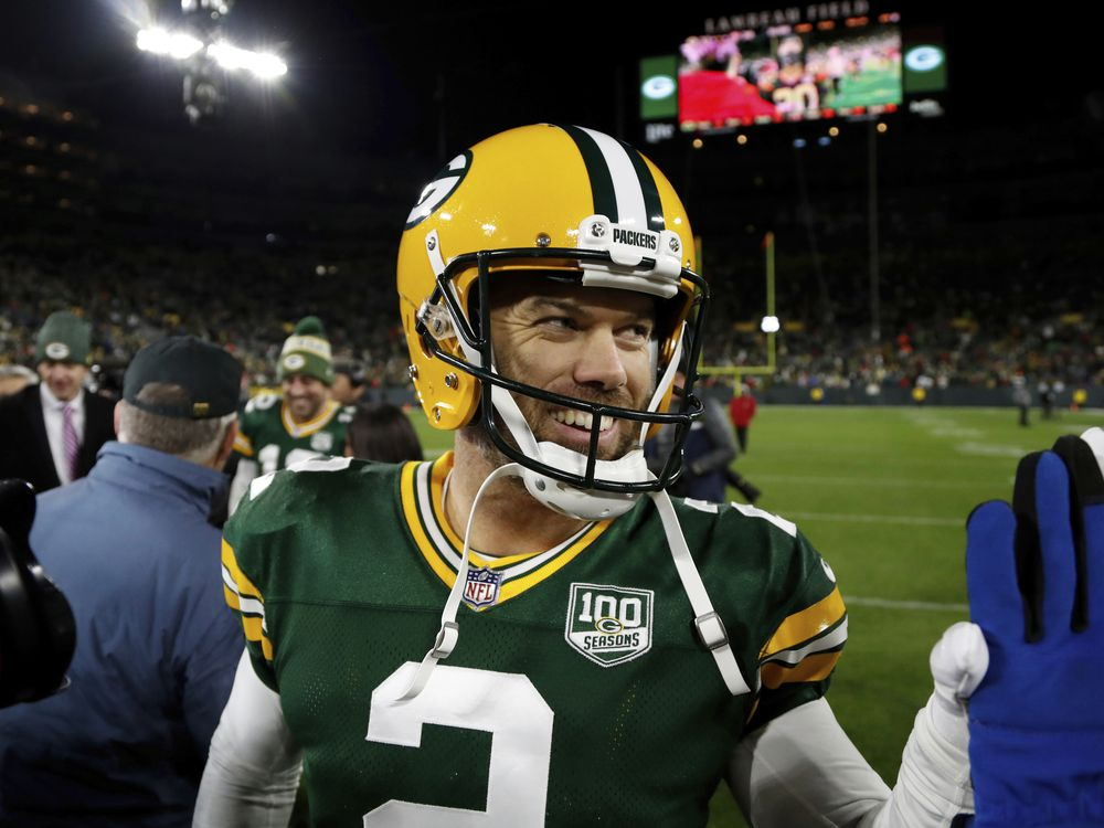 Mason Crosby. Foto vía National Post