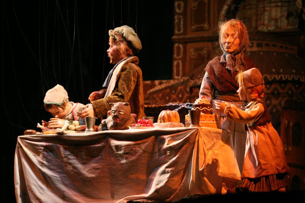 La familia de Hansel y Gretel