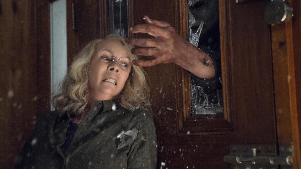 Jamie Lee Curtis como Laurie Strode en  Halloween  (2018)