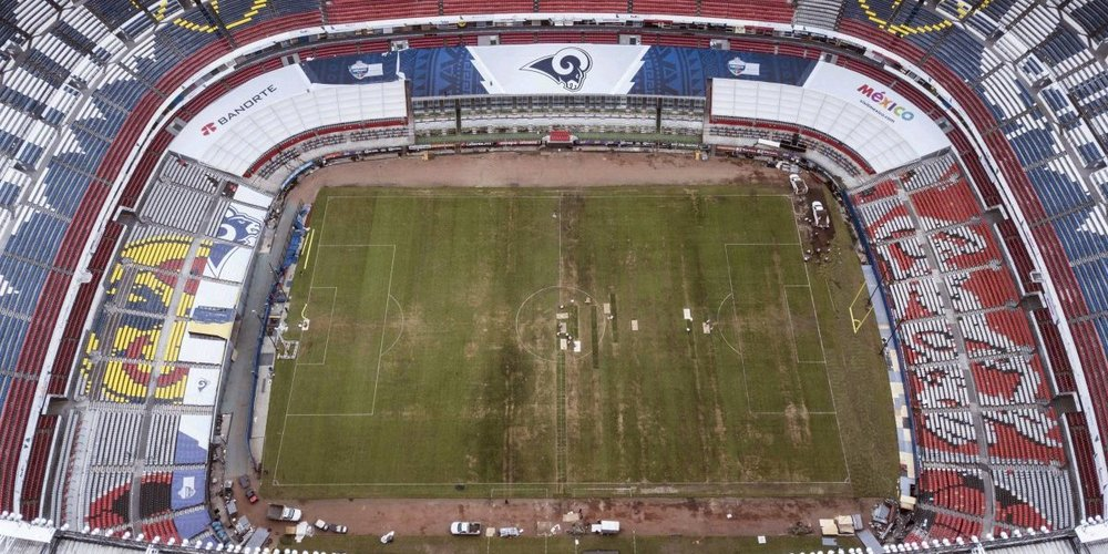 Estado actual del Estadio Azteca.