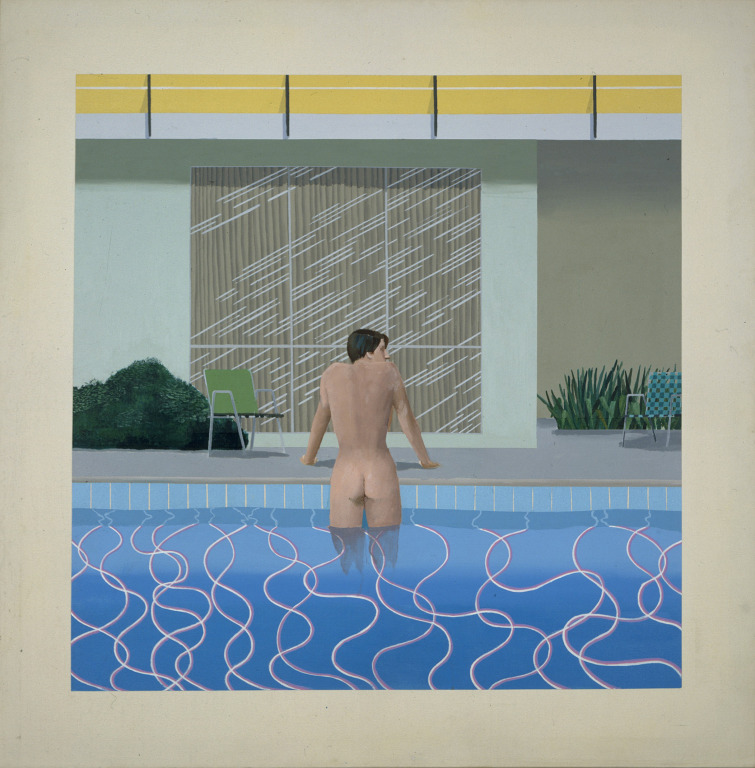 Peter Getting Out of Nick's Pool , 1966 Vía: National Museums Liverpool