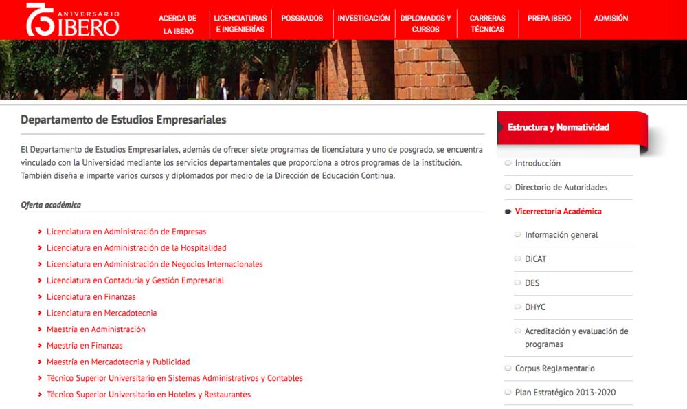 Estudios Empresariales Ibero