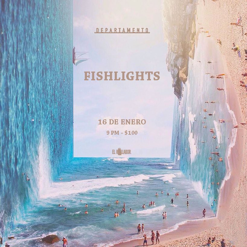 El próximo miércoles Fishlights abre año con su primer show en Departamento. Imagen vía Twitter.