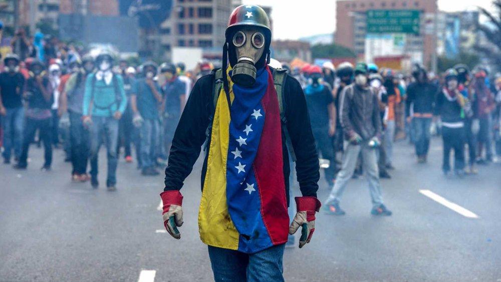 Protestas en Venezuela. Foto vía RTVE