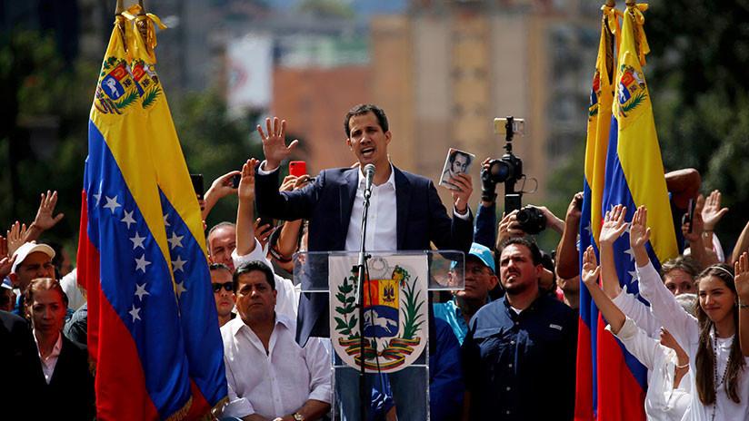 """Juan Guaidó, líder de la Asamblea Nacional de Venezuela, en autoproclamación este miércoles 23 de enero, como """"presidente encargado"""" de Venezuela."""
