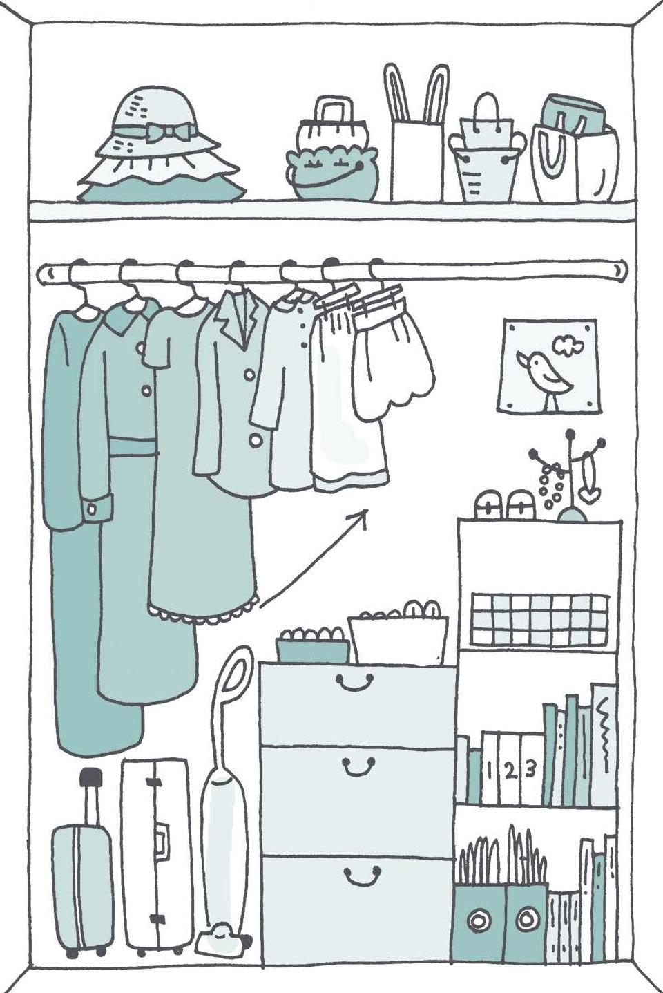 Ilustración de  Spark Joy,  Marie Kondo