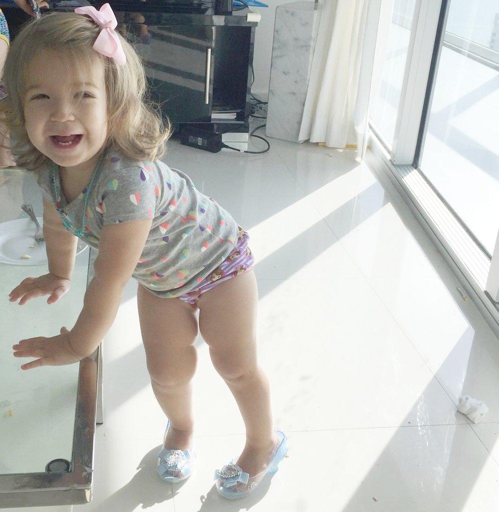 Kate's first day of potty training #pottytraininginstyle