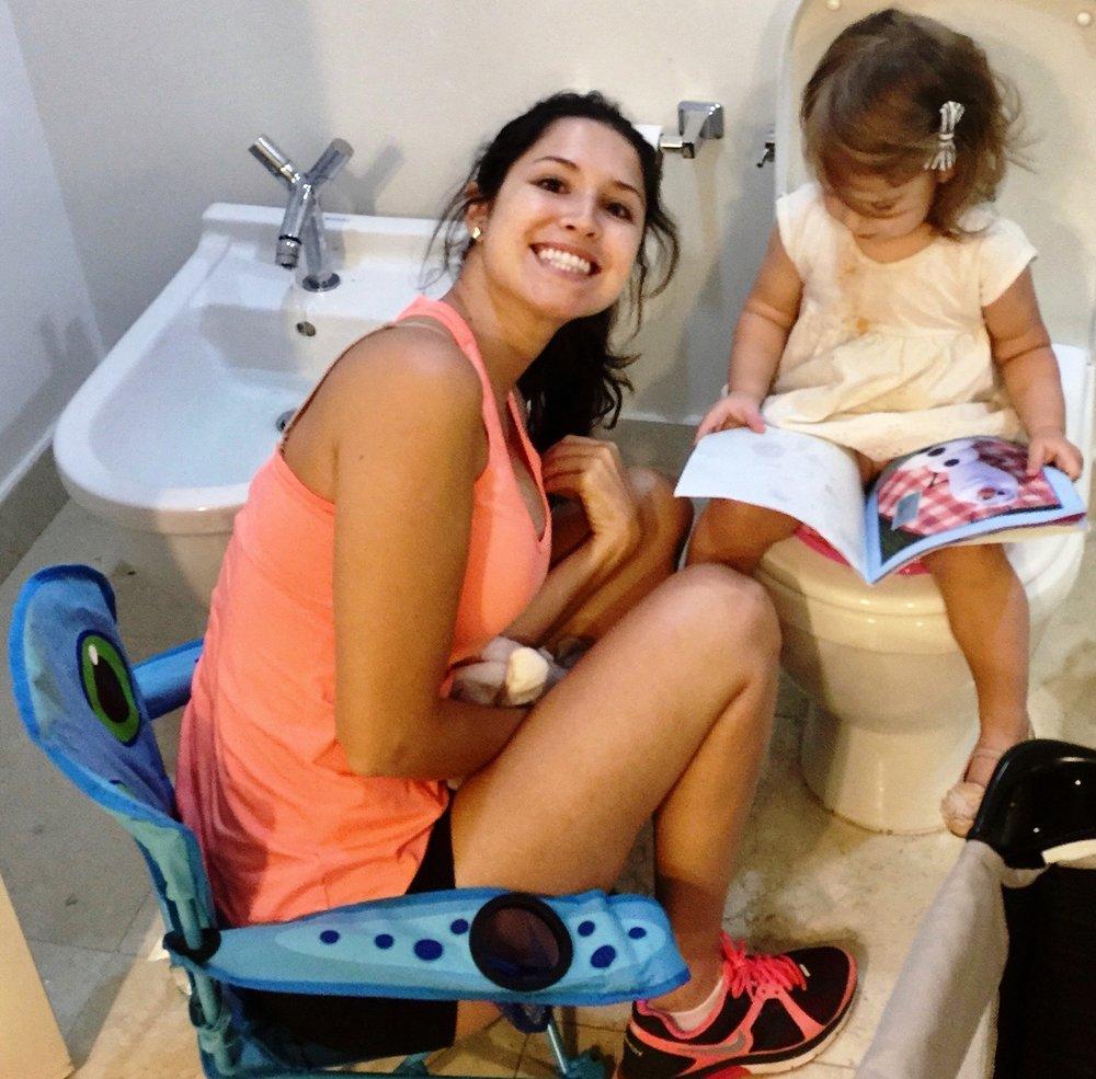 Trying to make the toilet fun #Pottytrainingincomfort