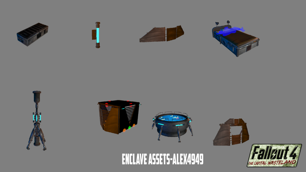 Last week we showcased Alexh1's Raven Rock and today we get a look at the unique assets creted for the Enclave by Alex4949. It's all so very blue and shiny!