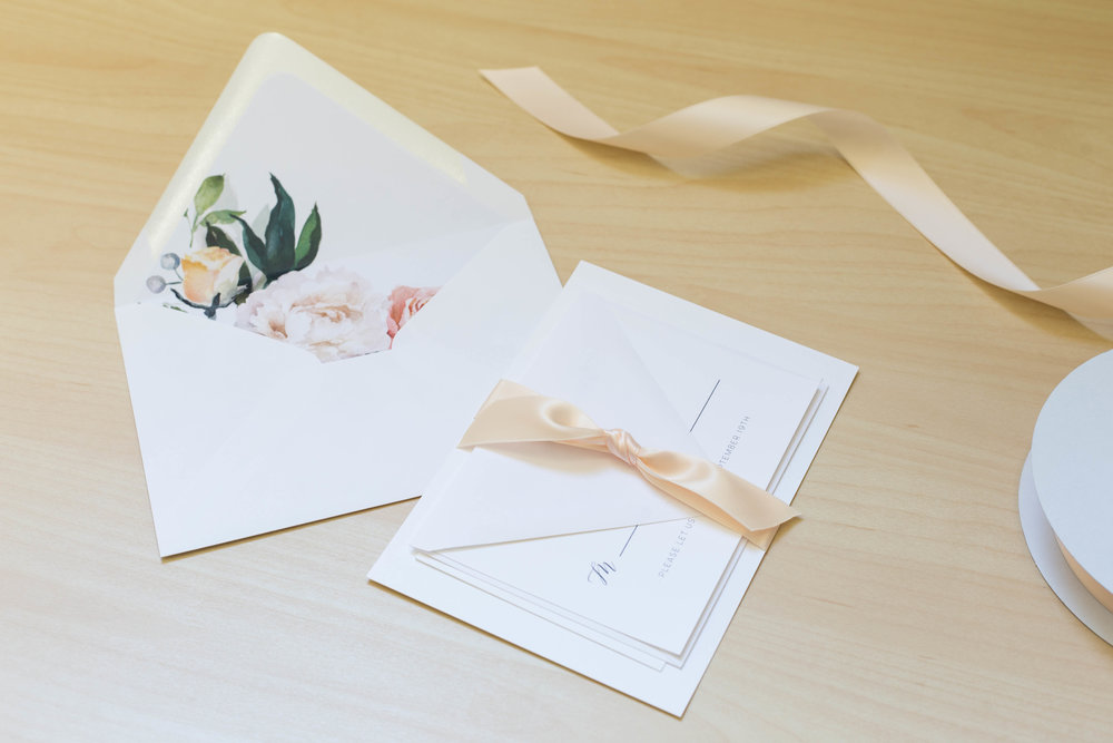 Complete Suites - All of my invitations are available with matching save the dates, menus, place cards, programs, table numbers and thank you cards to give your wedding a cohesive look from start to finish.