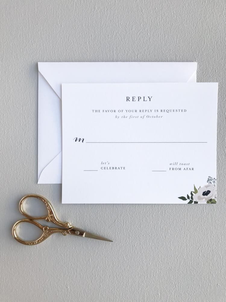 R.S.V.P. Card -