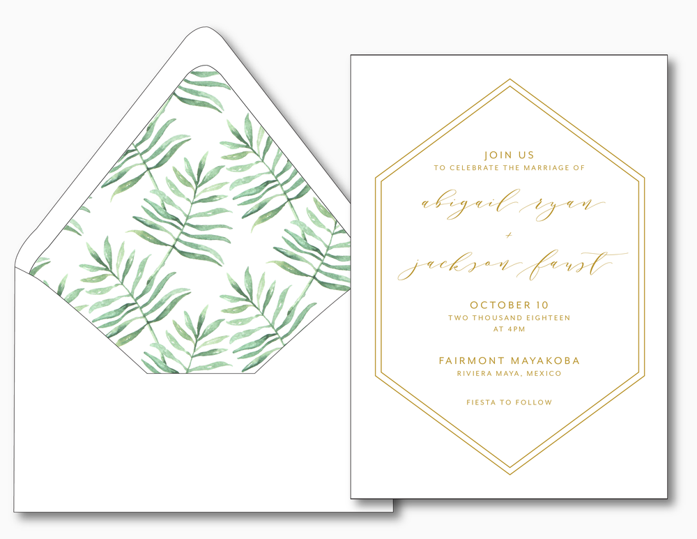 Hexagon Wedding Invitation