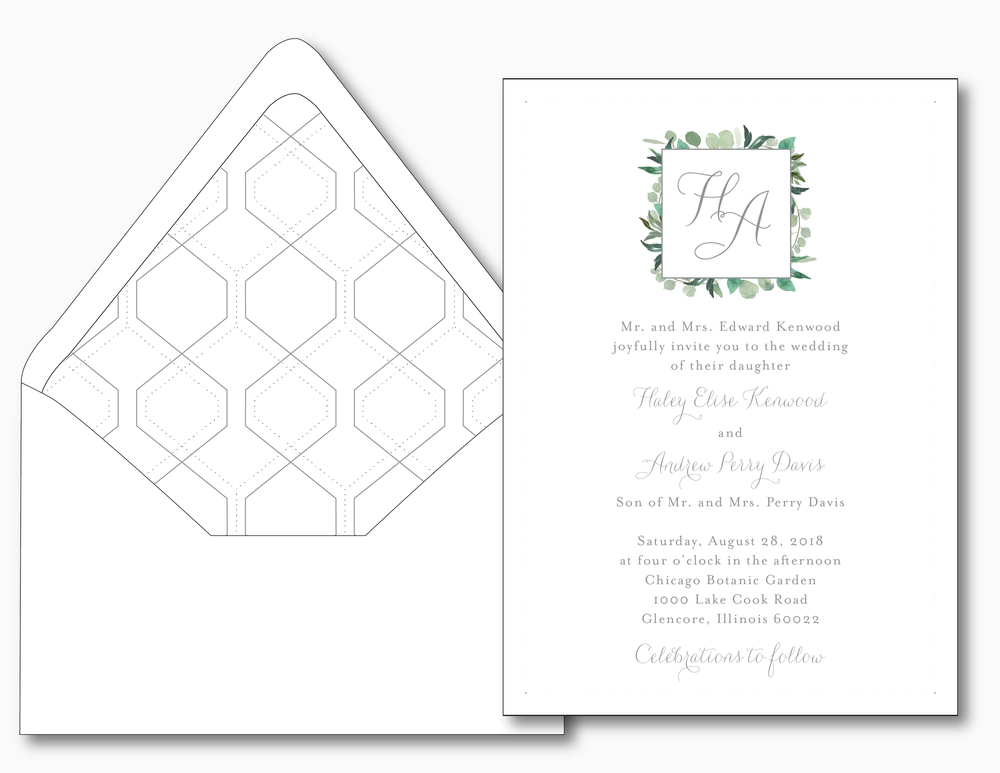 Garden Romance Wedding Invitation
