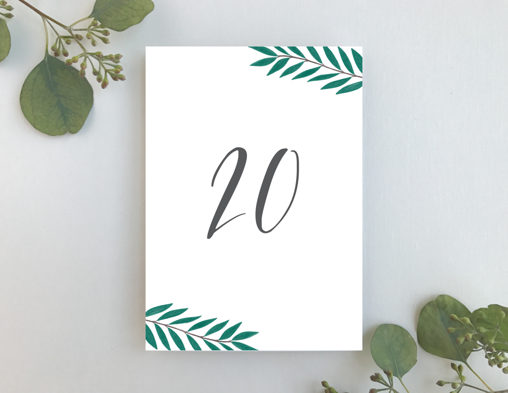 Teal Green Leaf Table Numbers-01.png