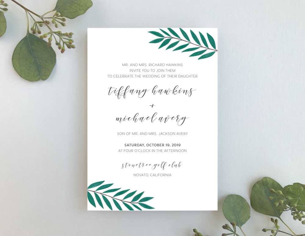 Teal Green Leaf Wedding Invitation-01.png