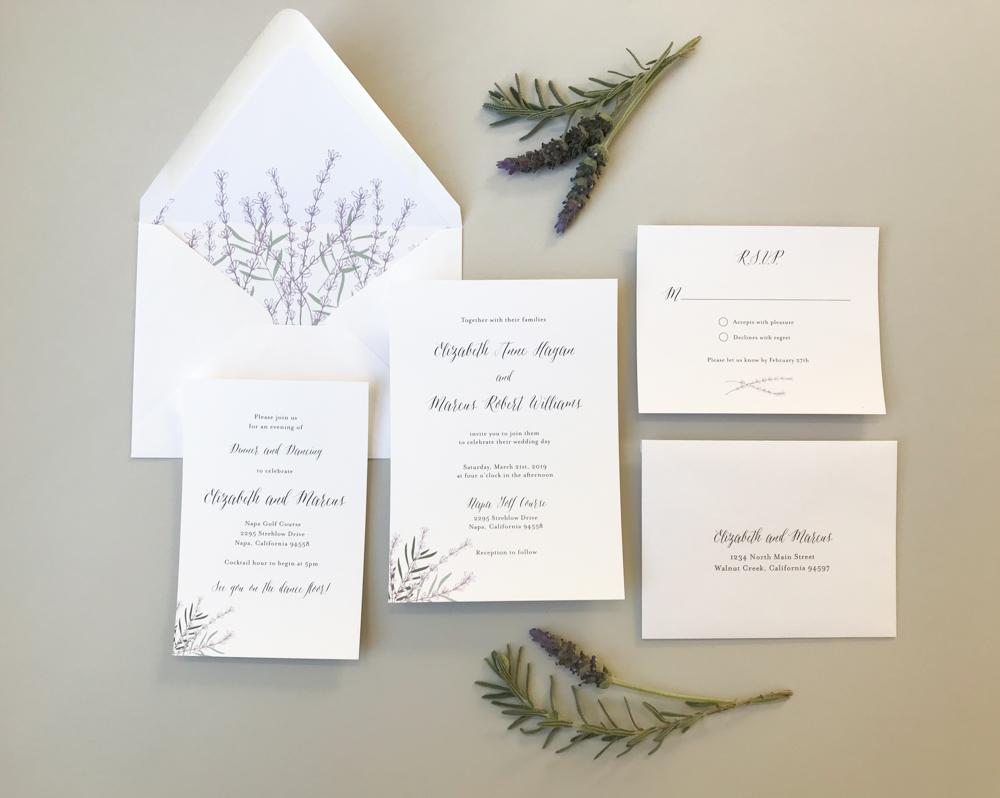 Lavender Floral Wedding Invitation Suite by Just Jurf-1.jpg