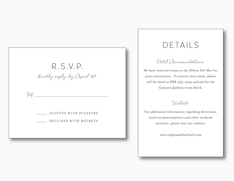 greenery minimalist wedding invitation just jurf designs