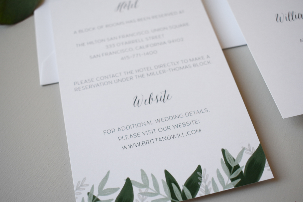 1163 Romantic Green Leaf Monogram Invitation by Just Jurf 5.jpg