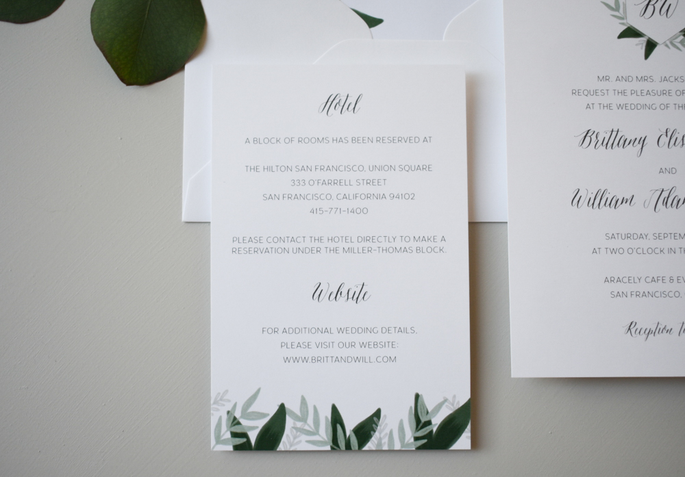 1163 Romantic Green Leaf Monogram Invitation by Just Jurf 6.jpg