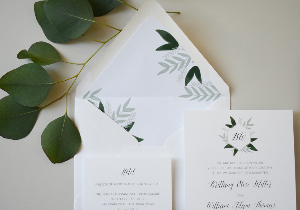 1163 Romantic Green Leaf Monogram Invitation by Just Jurf 10.jpg