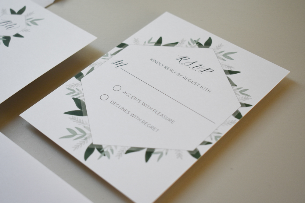1163 Romantic Green Leaf Monogram Invitation by Just Jurf 11.jpg
