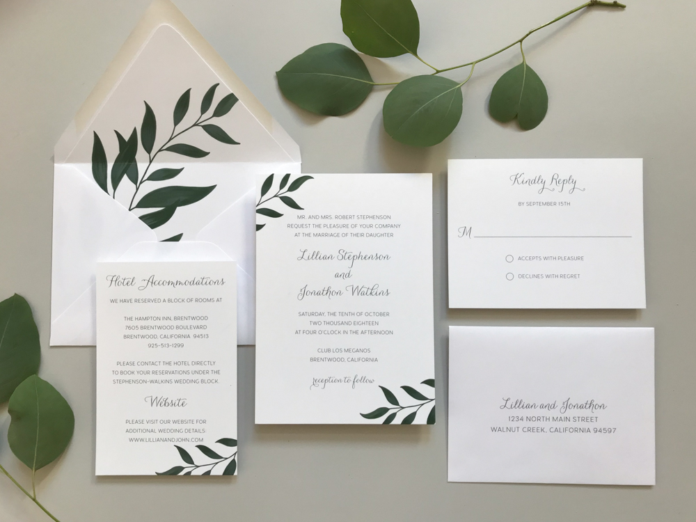 Botanical Leaf Wedding Invitation Suite.jpg