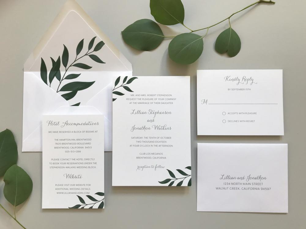 Botanical Leaf Wedding Invitation Suite.jpg