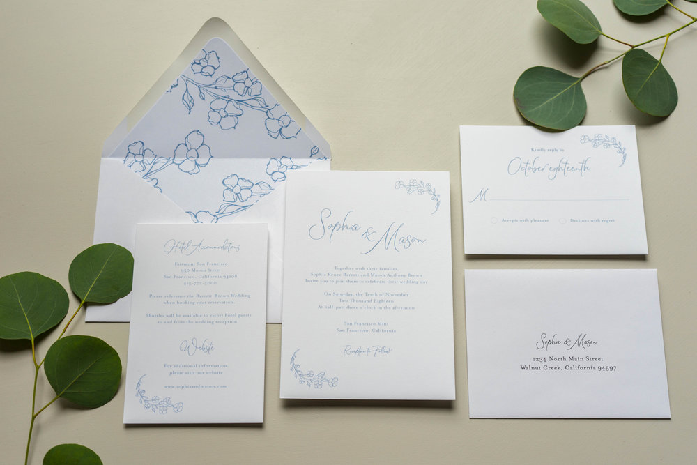 Dusty Blue Floral Wedding Invitation by Just Jurf-1.jpg