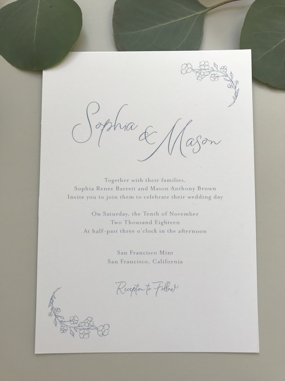 Dusty Blue Floral Wedding Invitation by Just Jurf-6.jpg