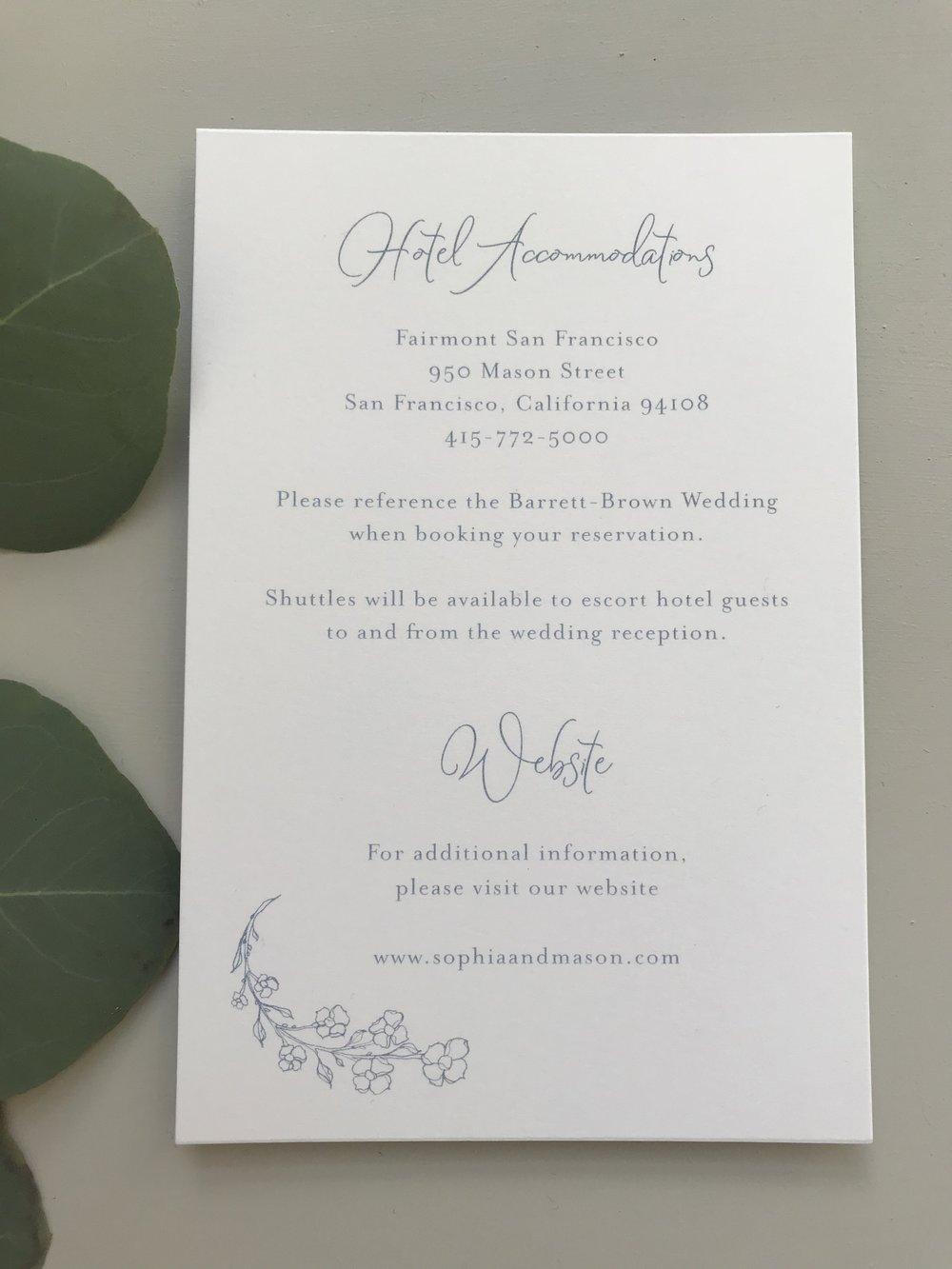 Dusty Blue Floral Wedding Invitation — Just Jurf Designs