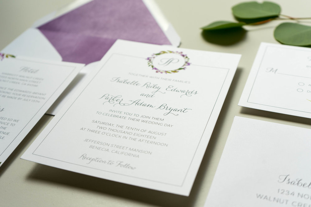 Purple Lavender Floral Wedding Invitation by Just Jurf - 2.jpg