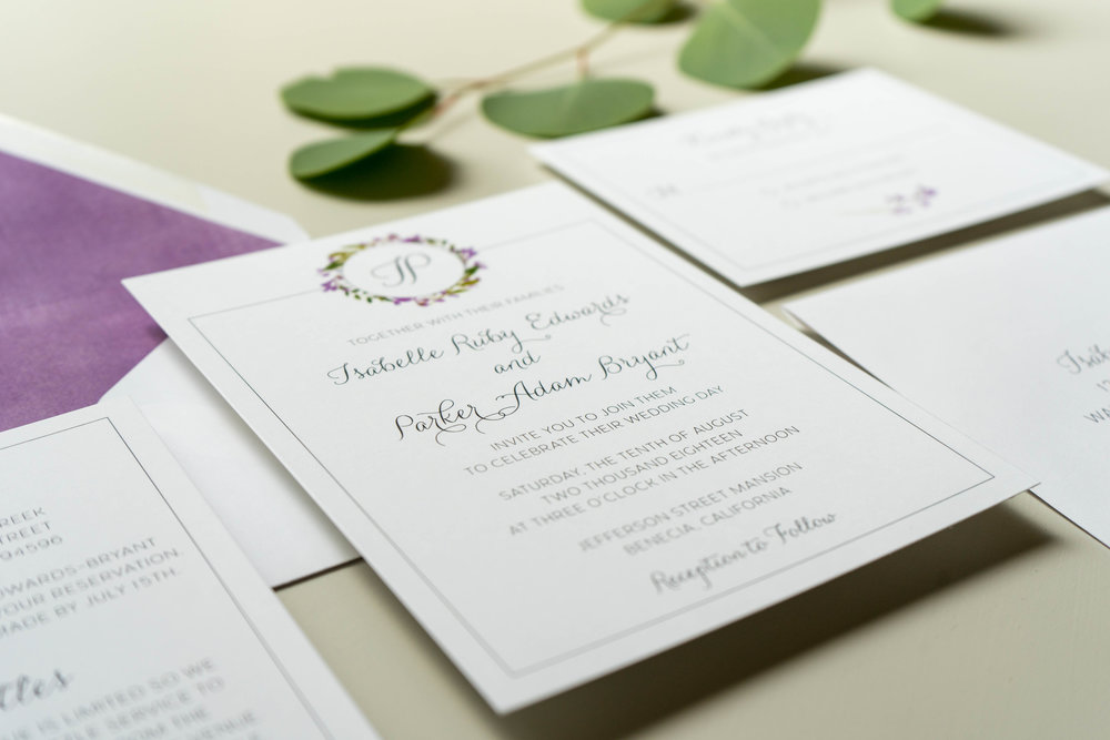 Purple Lavender Floral Wedding Invitation by Just Jurf - 3.jpg