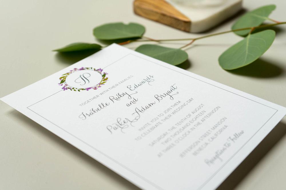Purple Lavender Floral Wedding Invitation by Just Jurf - 4.jpg