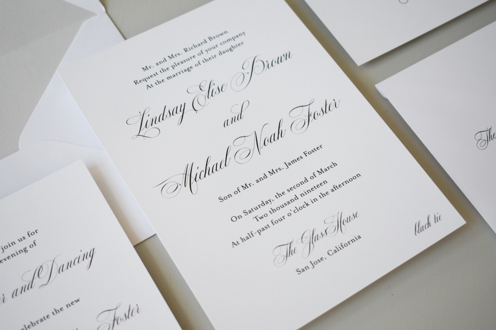 Elegant Script Wedding Invitation by Just Jurf