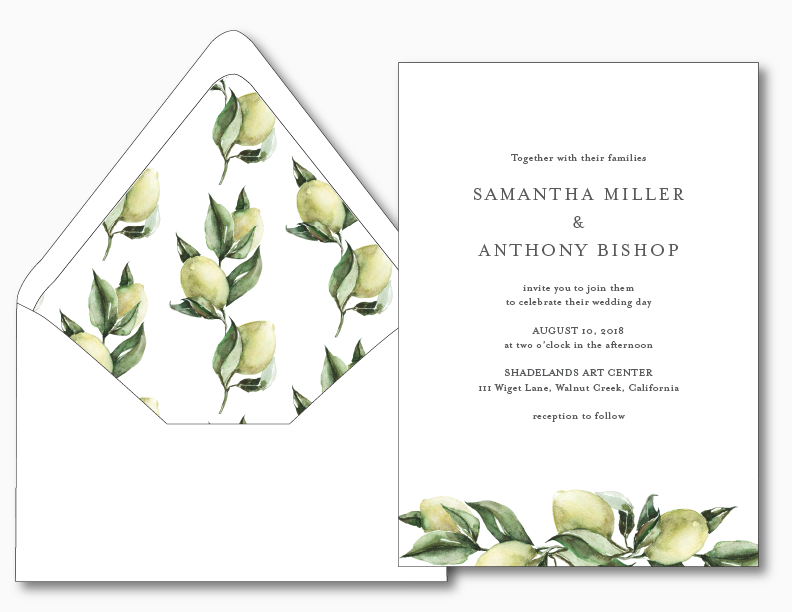 Mediterranean Wedding Invitation